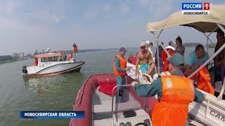 Инспекторы по маломерным судам патрулируют акваторию новосибирского водохранилища