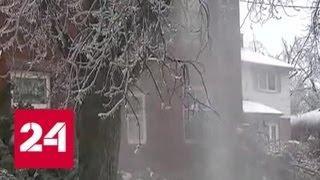 Ледяной дождь парализовал работу аэропорта Торонто - Россия 24