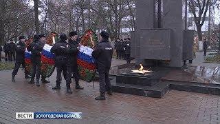 В Вологде почтили память погибших сотрудников органов внутренних дел