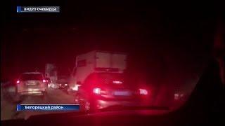 Большая пробка образовалась минувшей ночью на трассе Уфа – Магнитогорск