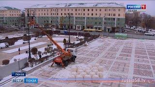 На обновленной площади Ленина пензенцы смогут гулять по «реке»