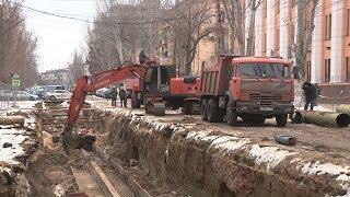 На улице Советской приступили к замене старых труб теплотрассы