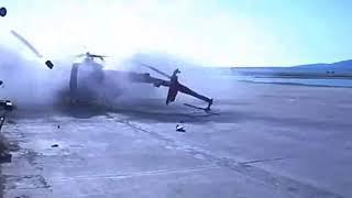 Жесткое приземление вертолета в аэропорту Анадыря