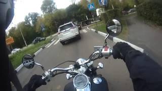 Небольшая Авария с Мотоциклом. ДТП Октябрь 06.10.2018