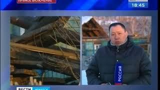 Обрушилась крыша в многоквартирном доме в Смоленщине