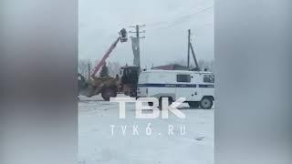 Сорвало крышу поликлиники (с. Агинское Красноярский край)