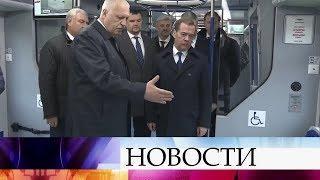 Дмитрий Медведев осмотрел новый электропоезд «Иволга».