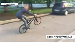 Момент кражи велосипеда зафиксировали камеры видеонаблюдения - ТНВ