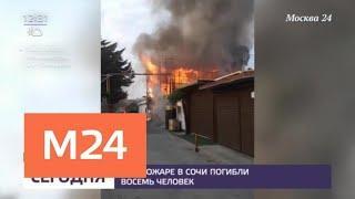 Восемь человек погибли при пожаре в Сочи - Москва 24