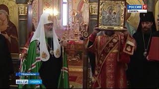Патриарх Кирилл провел службу в новом храме в Норильске