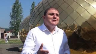 Под Орлом на храм водрузили 13-ти тонный купол.