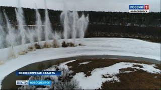 Саперы и спасатели устраняли ледовые заторы взрывами на реке Ине
