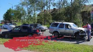 Три иномарки столкнулись под Череповцом: есть пострадавшие