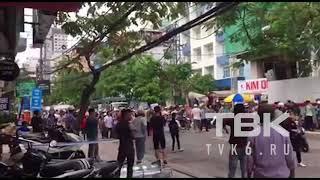 Протесты в Нячанге видео очевидцев: плакаты «долой китайцев»