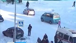В Норильске арестован водитель, который сбил на тротуаре двух девочек