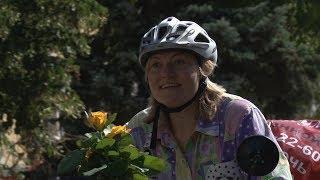Путешественница Наталья Иванова на велосипеде доехала из Ставрополя в Тюмень.