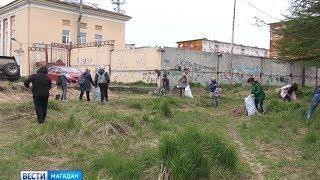 Экоотряды вышли на очистку Магадана