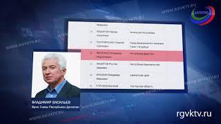 Владимир Васильев  - на 12 строчке рейтинга губернаторов России