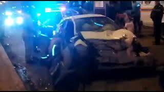 В Сети появилось видео последствий жуткого ДТП в Новокузнецке, в котором погибли оба водителя