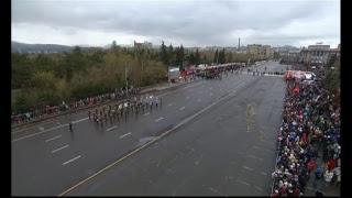 Торжественное шествие, посвященное 73-й годовщине Победы в Великой Отечественной войне (Красноярск)