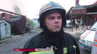 Более четырёх часов тушили пожар на Черемошниках