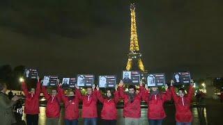 В Париже прошла акция в поддержку журналистов