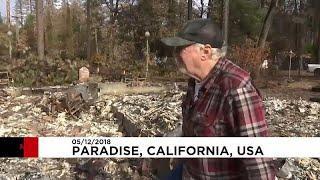 Жители полностью выгоревшего города Парадайз вернулись на пепелище…