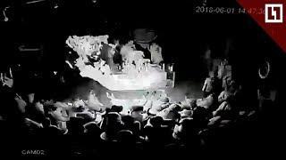 Момент взрыва в ТЦ Иркутска