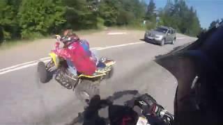 Серьезная авария (ДТП) на квадроцикле, ATV crash Suzuki