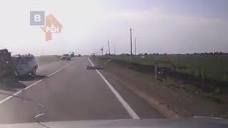 Момент страшного ДТП В Гливенко где погибли 9 человек