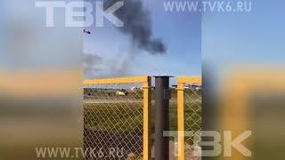 Упал вертолет Ми-8 в Красноярском крае