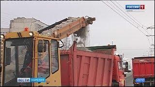 30 тонн снега вывезли коммунальщики с дорог карельской столицы