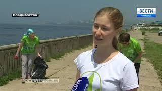 Владивостокские активисты очистили от мусора пляж и парковую зону Моргородка