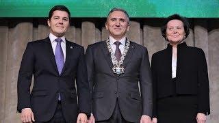 Наталья Комарова поздравила Александра Моора с вступлением в должность губернатора Тюменской области