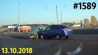Новая подборка ДТП и аварий. «Дорожные войны!» за 13.10.2018. Видео № 1589.