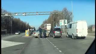 Авария в районе пос.Красный Колос на М-4 спровоцировала пробку