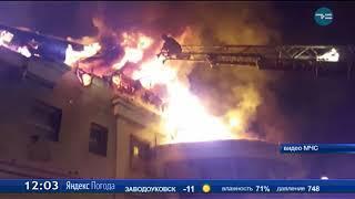 Пожар в кафе в центре Тюмени