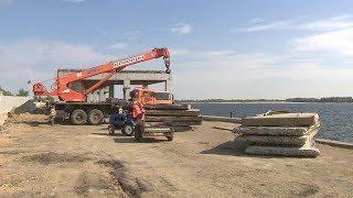 На набережной Волгограда реконструируют подпорную стену