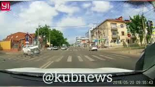 ДТП с маршруткой на ул. Северной, Краснодар