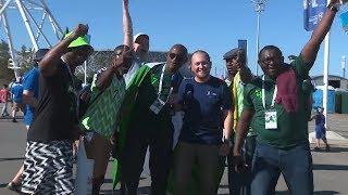 Праздничная атмосфера на Тропе болельщиков перед матчем Нигерия - Исландия