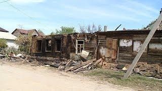 В Краснооктябрьском районе пенсионерка осталась без крыши над головой после пожара
