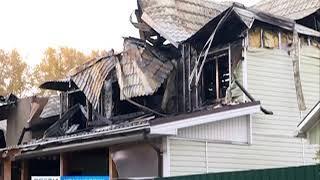 На правобережье Красноярска сгорели два дома и несколько построек