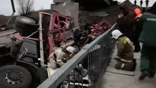 Упал мост в Воронежской области