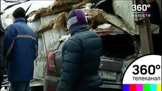 В Балашихе начали разбор завалов на рухнувшей автостоянке