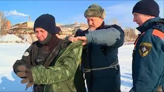 13 02 2018 Сотрудники МЧС снимают мини-фильмы на Ижевском пруду