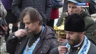 В Костромском Кремле освятили колокола для звонницы Богоявленского собора