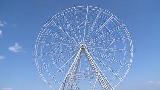 В Волгограде начались испытания нового колеса обозрения