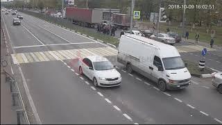 ДТП Московский/Гагарина. 09.10.18. Наезд на пешехода.
