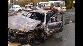 В Челябинске автомобили сгорели после ДТП