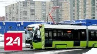 """В Петербурге частный трамвай """"Чижик"""" обстреляли в первый день выхода на линию - Россия 24"""